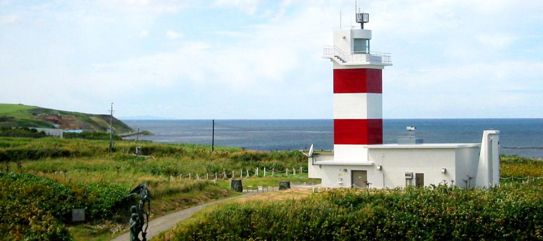 宗谷岬灯台(稚内市)                 - 稚内の観光・ビジネスの宿泊に便利な旅館「望郷」からお車で約30分